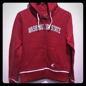 WSC Washington State Cougars zip up hoodie